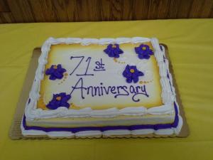 71st Anniversary cake