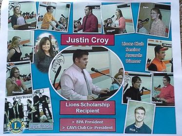 Justin Scholarship recipient